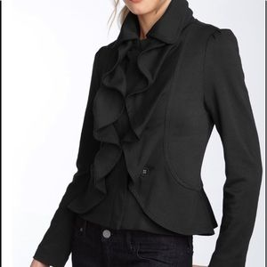 Filtre Ruffle Front Jacket Full Zip Gray size S